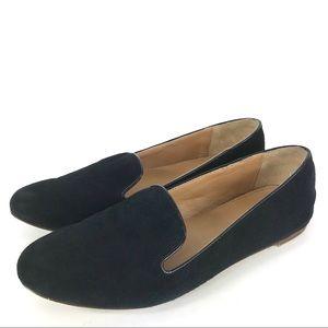 J Crew Addie Black Suede Loafers